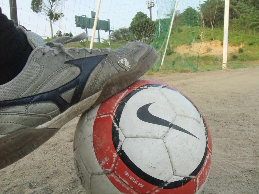 高橋典幸、久しぶりにサッカーをやっていました